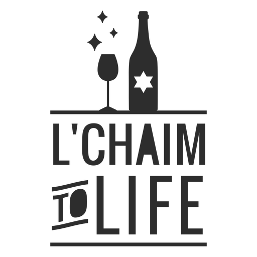 Lchaim to life bottle badge Transparent PNG