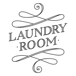 Laundry room vintage label