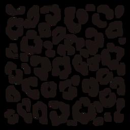 Plantilla cuadrada con estampado de leopardo