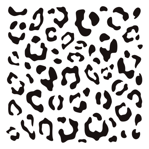 Estêncil quadrado com estampa de leopardo