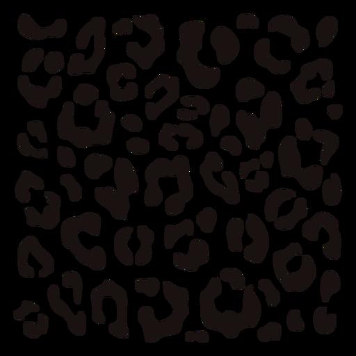 Quadratische Schablone mit Leopardenmuster