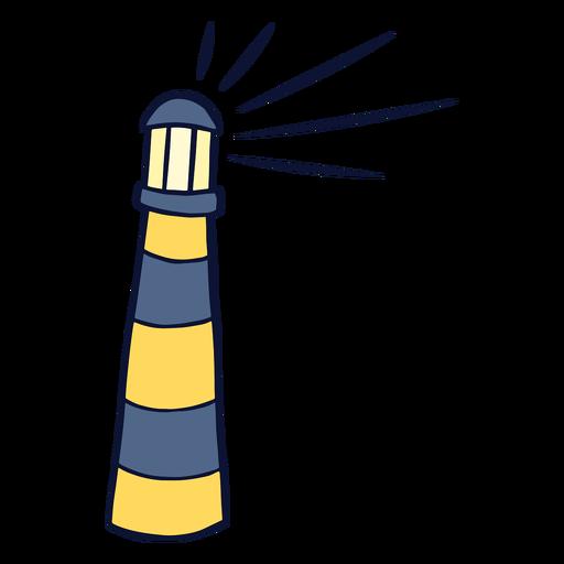 Lighthouse illuminating flat