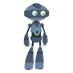 Little robot illustration character