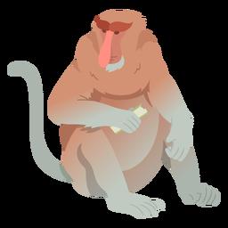 Ilustración de mono de nariz larga
