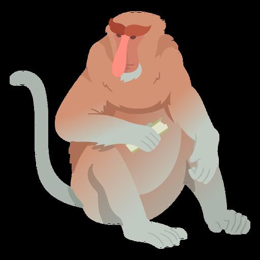 Long nosed monkey illustration Transparent PNG