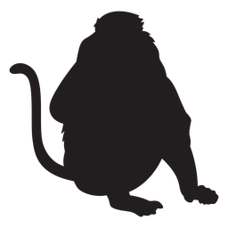 Long nosed monkey silhouette