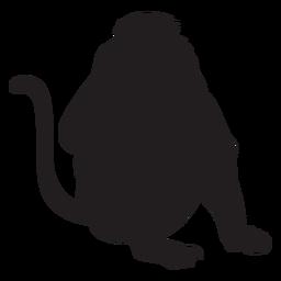 Silueta de mono de nariz larga