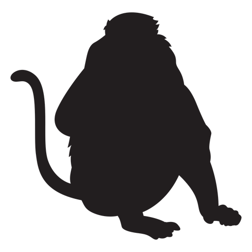 Long nosed monkey silhouette Transparent PNG