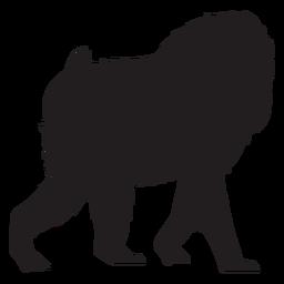 Mandrill monkey silhouette