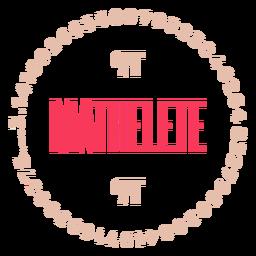 Insignia de Mathelete pi