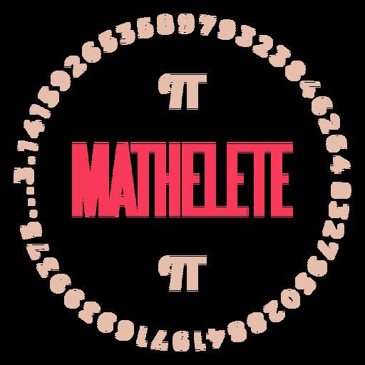 Mathelete pi badge