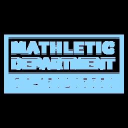 Cotización del departamento de Mathletic