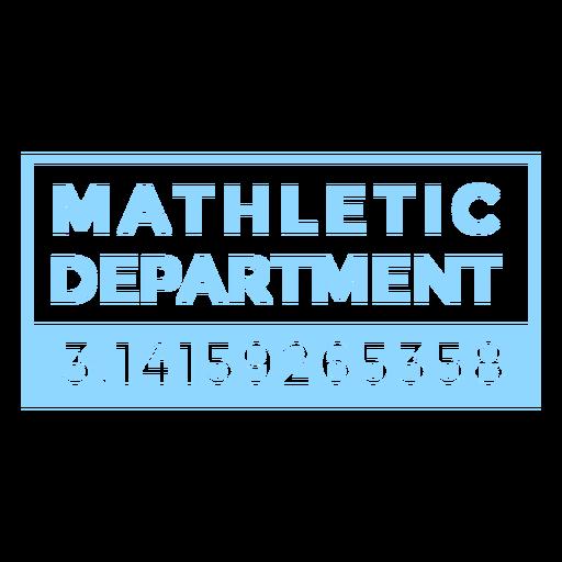 Mathletic department quote