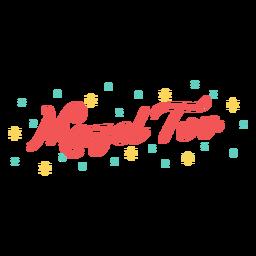 Letras brillantes de mazel tov