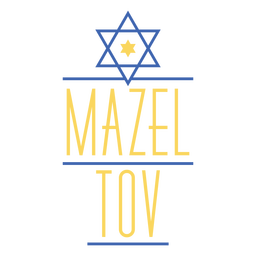 Letras de mazel tov tall font