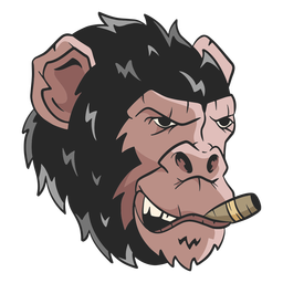 Mean chimpanzee illustration