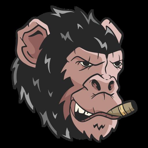 Mean chimpanzee illustration Transparent PNG