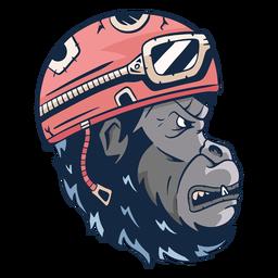 Ilustración de gorila malo