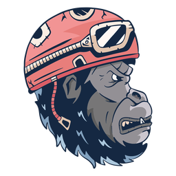 Mean gorilla illustration