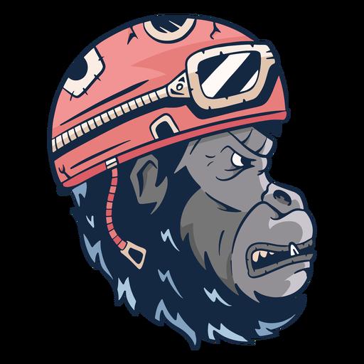 Mean gorilla illustration