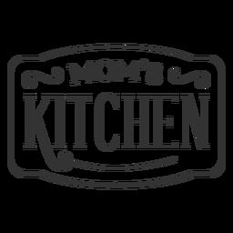 Etiqueta vintage de cocina de mamás