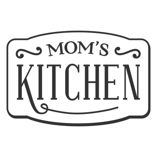 Etiqueta vintage de cocina de mam?s
