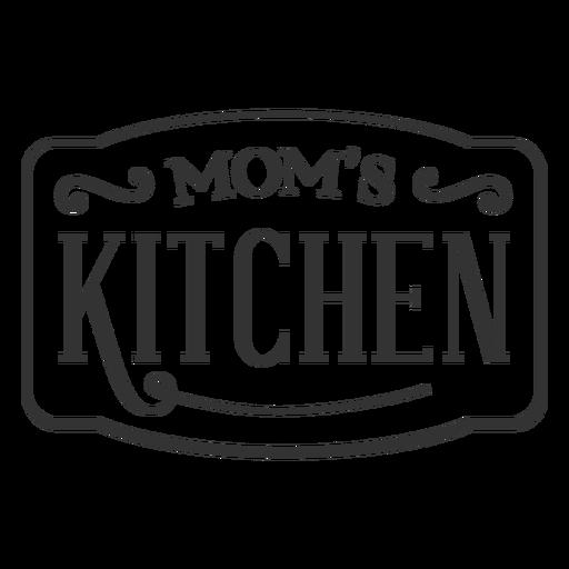 Moms kitchen vintage label