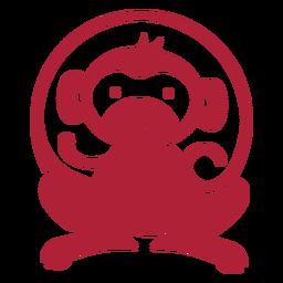 Monkey cute monochrome logo