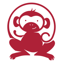 Mono lindo logo monocromo