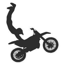 Motocross extreme stunt silhouette