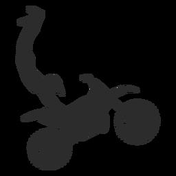 Silueta de acrobacias extremas de motocross