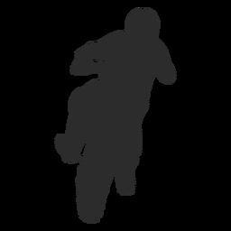 Motocross jump silhouette