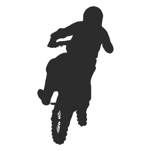 Motocross jump silhouette Transparent PNG