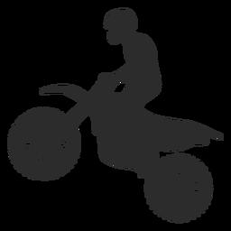 Motocross-Reit-Silhouette