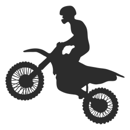 Motocross riding silhouettte