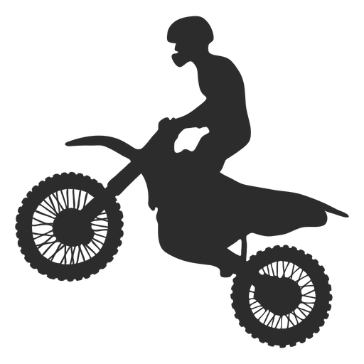 Silueta de motocross Transparent PNG