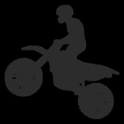 Silueta de motocross