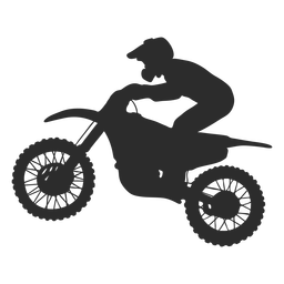 Motocross speed rider silhouette