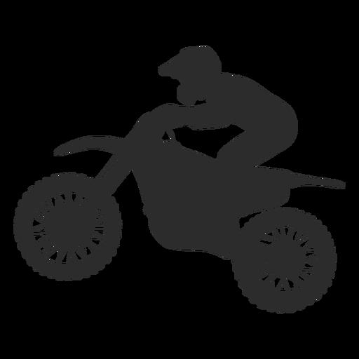 Silueta de motocross speed rider Transparent PNG
