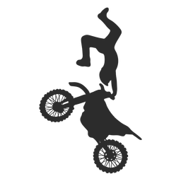 Motocross trick extreme silhouette