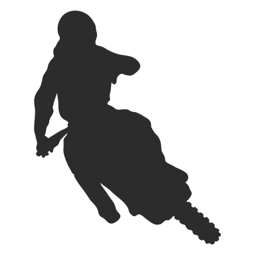 Motocross turn bike silhouette Transparent PNG