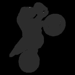 Silhueta vertical de motocross