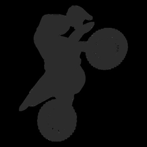 Motocross vertical silhouette Transparent PNG