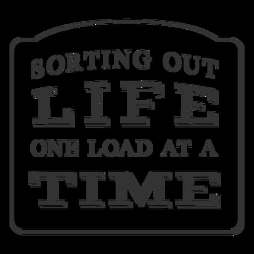 One load vintage label