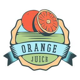 Orange juice flat label
