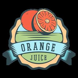 Rótulo plano de suco de laranja