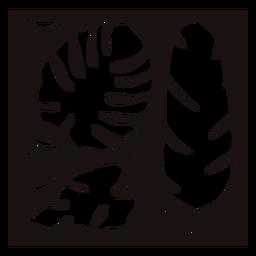 Palm leaf composition stencil