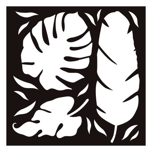 Palm leaf composition stencil Transparent PNG