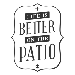 Pation life better vintage label