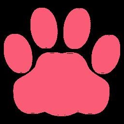 Mascota pata monocromática plana